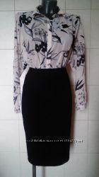 Шикарная элитная пудровая шифоновая рубашка- блуза-оверсайз Atmosphere