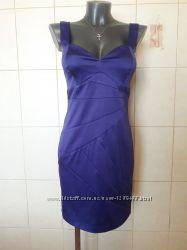 Эффектное, вечернее коктейльное, фиолетовое секси платье-бюстье Amazing que