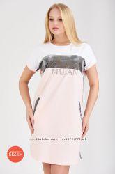 Новинка сезона от BinkaКрасивое, эффектное платье-оверсайз, р-ры M, L, siz