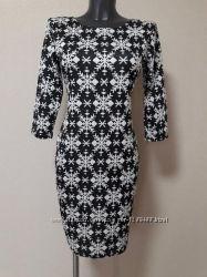 Стильное, деловое, эффектное трикотажное платье-мини Ambitionfly с рукавом