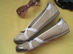 Брендовые стильные туфли балетки мокасины ESPRIT, р. 40, натуральная замша