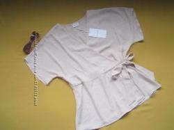 Пудровая стильная блузка, блейзер Vila Clothes, р. 36, Камбоджа