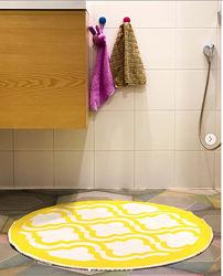 Ковер в прихожую, ванную, туалет дизайнерский круглый коврик , 80 Х 80 см