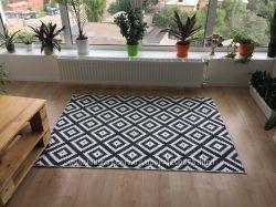 Ковер с интересным принтом для дома 110Х160 см Дизайнерский коврик