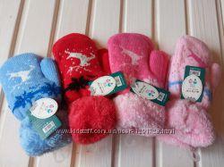 Варежки зимние, теплые для девчонок и мальчишек пр. Венгрия