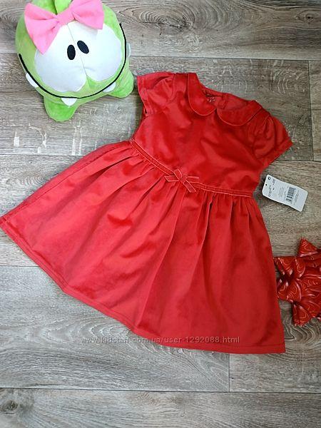 Платье красное Pep&Co 9-12мес. р. 74-80