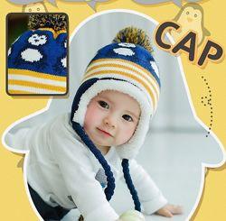 Шапка детская шапка дитяча наборы шапка и шарф зима осень холодная зима