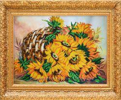Бисерная картина Букет солнца