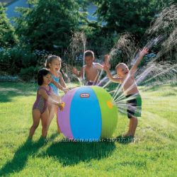 Надувной пляжный мяч фонтан Можно для полива газонов