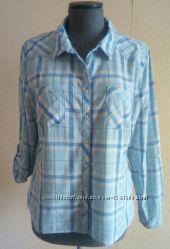 Фірмова трендова рубашка в голубу клітинку Yessica