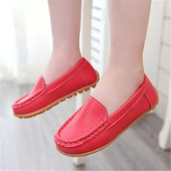 Красные лоферы оксфорды для девочек мальчиков 29 размер туфли