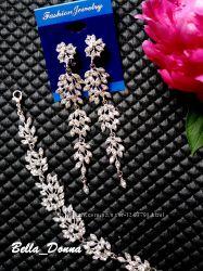 Оригинальные серьги люстры веточки серебро, позота, чёрные