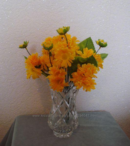 Искусственные цветы букеты, подсолнухи, маки, маргаритки
