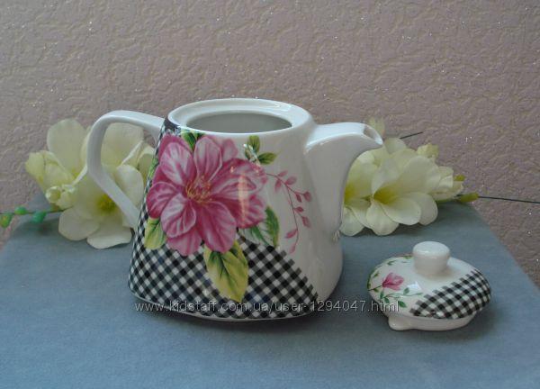 Фарфоровый чайник Кофейные Розы