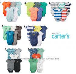 Бодики Carters для мальчика поштучно и комплекты