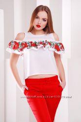Блузки в украинском национальном стиле, разные модельки