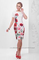 Красивое платье с маками