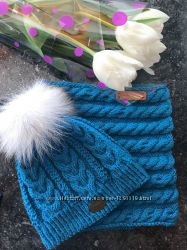 набор шапка снуд шарф хомут