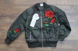 Хит сезона Бомбер, куртка, ветровка с вышивкой