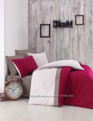 Однотонное постельное белье Cotton Box ранфорс, Турция