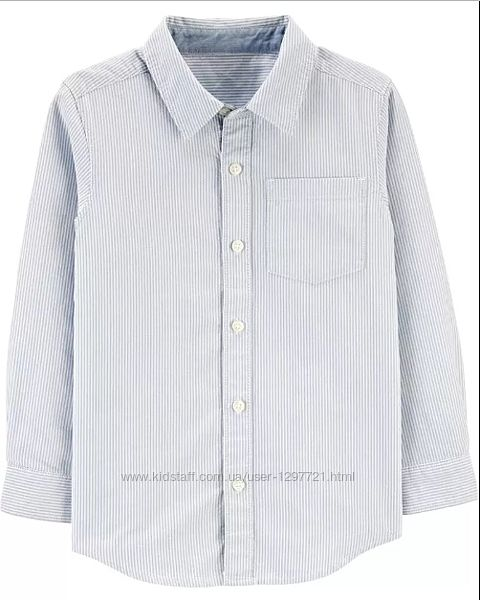 Carters Классическая рубашка в тонкую полоску для мальчика 7 8 12лет