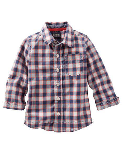OshKosh Рубашка в клетку для мальчика 4 года