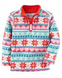 Carters Флисовый пуловер с узором для девочки 2Т 3Т 4 5 7 8