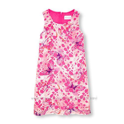 Childrens Place Платье нарядное кружево расшитое бабочками 5 6лет