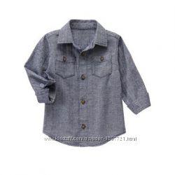 Gymboree Рубашка в елочку для мальчика 5Т