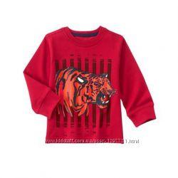 Gymboree Футболка с длинным рукавом с тигром для мальчика 2Т 3Т 4Т