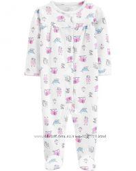 Carters Пижама слип человечек органический хлопок для девочки 6мес 9мес
