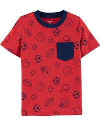 Carters Футболка с карманом для мальчика 2Т 3Т