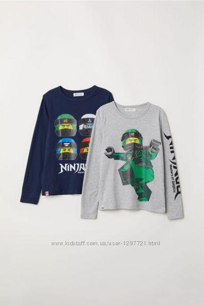 HM Комплект футболок с длинным рукавом Ниндзяго для мальчика 3-4года