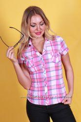 Лёгкая рубашка в клеточку на размер 36-38 евро h&m