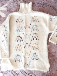 Тёплый свитер мохер качество