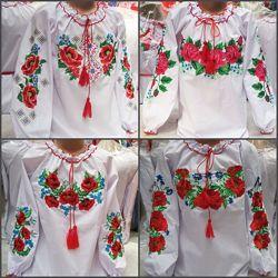 Красивые Вышиванки для девочек, разные узоры и размеры