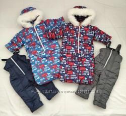 Зимние комбинезоны 3 в 1 для мальчиков от рождения до 2 лет