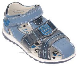 кожаные сандалии для мальчика с закрытым носком Lapsi Sport 1363