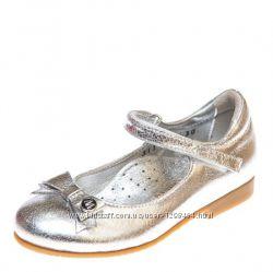 Кожаные серебристые туфли для девочки Милашка от Moschino Турция