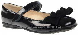 Кожаные туфельки для школы Lapsi 1268 черные