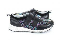 Кожаные кроссовки Мозаика Мальвы 109Ш-145А