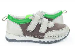 Кожаные кроссовки c яркими вставками Мальвы 109Ш-146А р. 31-39