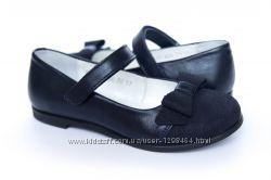 Кожаные туфли с махровым бантиком Мальвы 109Ш-321B