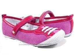 Кожаные мягкие туфельки для девочки с резиновым носком Мальвы 109Д-387