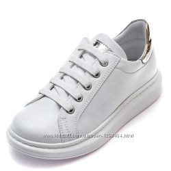 Кожаные белые кроссовки Pafi 10710520
