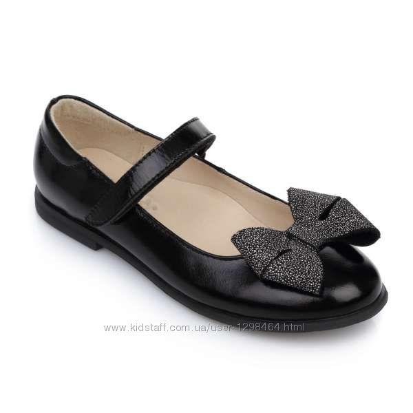 Кожаные туфли со стильным бантом Lapsi 1670