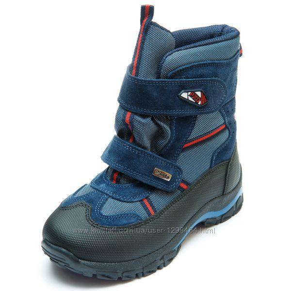 Зимние термо ботинки Frost на цигейке Panda Турция 107329-3 синие