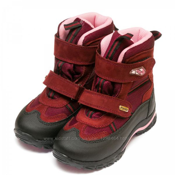 Зимние термо ботинки Frost с нат. мехом Panda Турция 107329-8 бордо