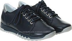 Кожаные закрытые туфли для девочки Мальвы 109Ш-438 Акция