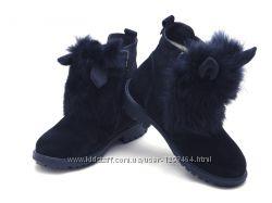 Кожаные детские зимние ботинки Зайченок 109Ш-403 Мальвы